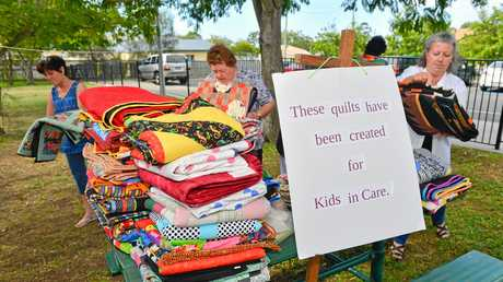 Port Curtis Patchwork Club gave 47 handmade quilts to Anglicare Central Queensland for the foster children of Gladstone.