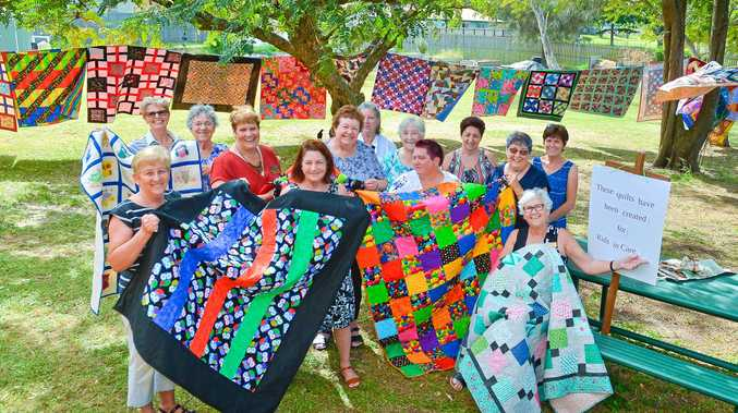 CHARITY: Port Curtis Patchwork Club gave 47 handmade quilts to Anglicare Central Queensland for the foster children of Gladstone.