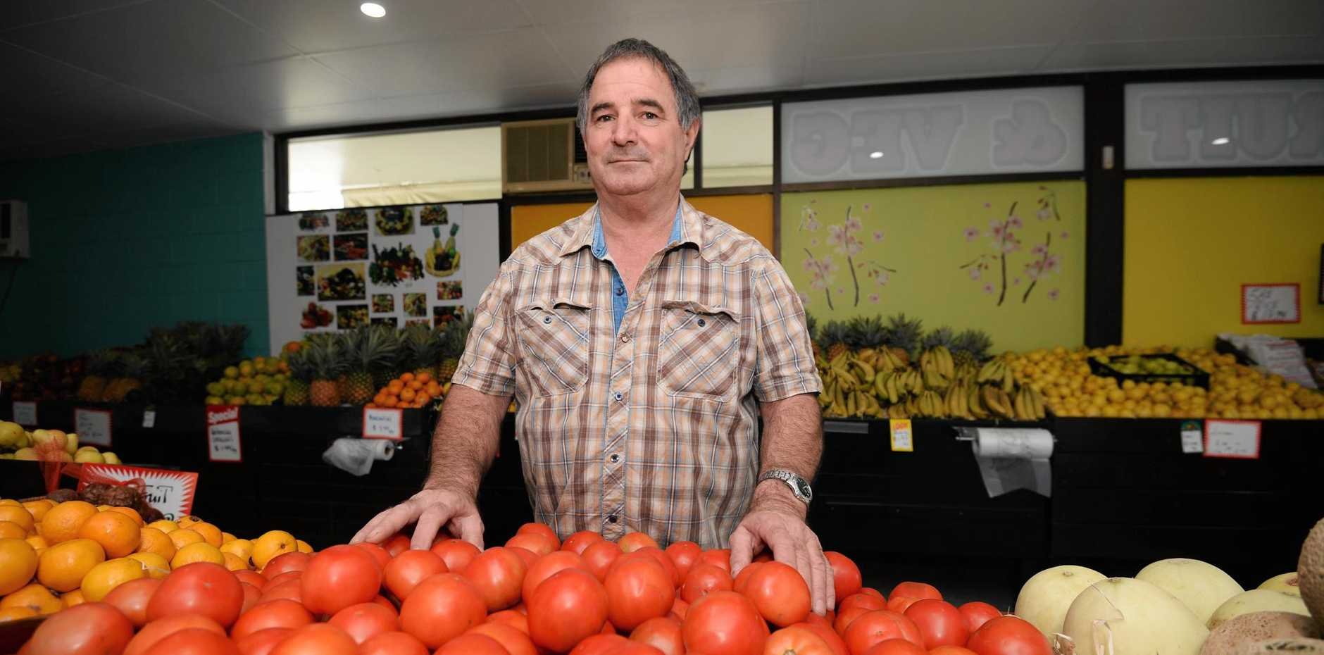 Owner of Dean St Fruit and Veg, Stephen Irvine said the price of tomatoes has doubled in the past two weeks.