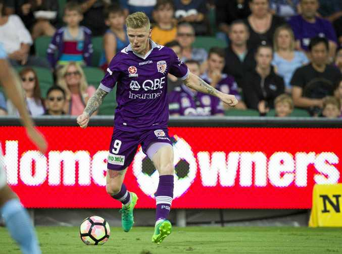 SHARPSHOOTER: Andy Keogh got on the scoresheet for Perth Glory in the 5-4 win over Melbourne City.