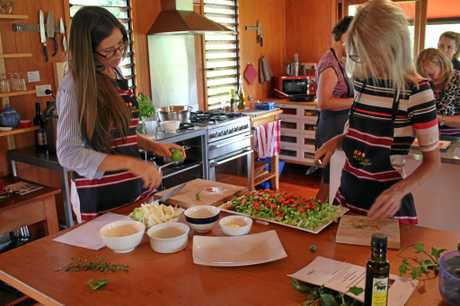 Guests take part in the Wild Lime Cooking School at Worendo Cottages, near Darlington.