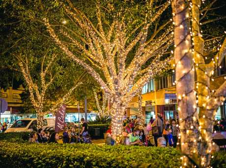 The area around Gold City Centre Stage is transformed into a magical wonderland by the addition of the twinkling fairy lights on the trees, another initiative designed to revitalise Gympie's inner city.