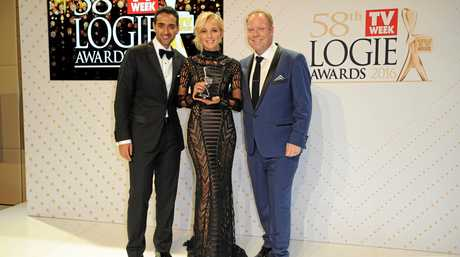 The Project's Waleed Aly, Carrie Bickmore and Peter Helliar at last year's awards ceremony.