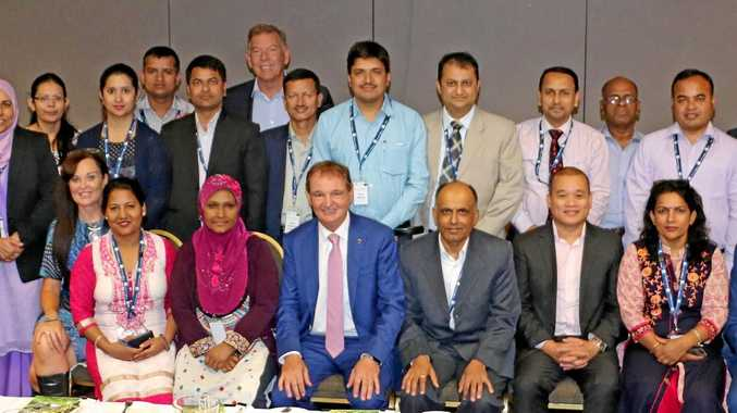 CARING: Delegates from Nepal and Bangladesh visited Ipswich recently; countries where Ipswich Cares has made a difference.