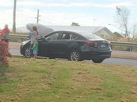 A driver who crashed into a Mazda 3 driving along Kirkwood Rd has fled the scene.