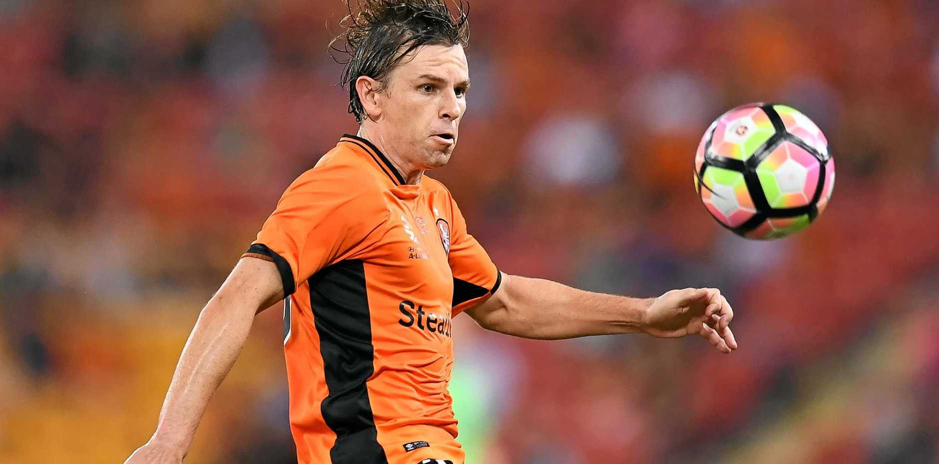 UNKNOWN TERRITORY: Brett Holman gets his first taste of finals football in Brisbane Roar's playoff game this week.