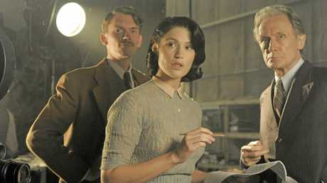 Gemma Arterton and Bill Nighy in a scene from the movie Their Finest.