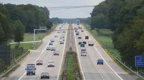This motorway in Germany is actually a secret runway. The sudden disappearance of the median strip is a clue to its true purpose.