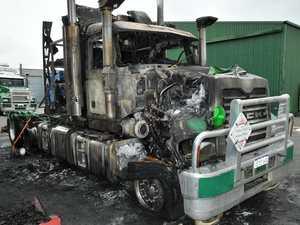 Police search for truck arson suspect
