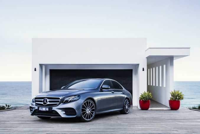 ON A CLOUD: The Mercedes-Benz E-Class brings autonomous driving through its driver assistance systems.