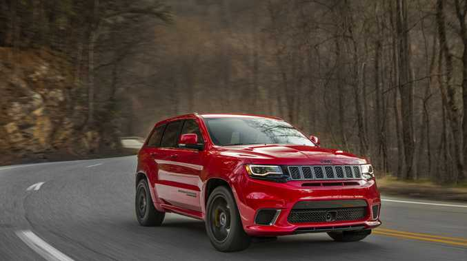 It has 527kW and 874Nm, but is the 6.2-litre V8 Grand Cherokee Trackhawk really the world's fastest? Tesla may beg to differ...