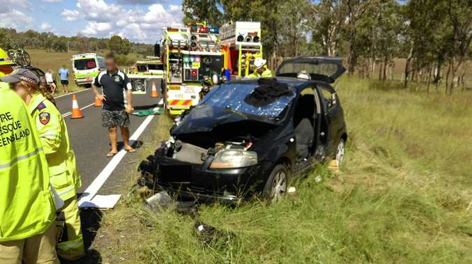 HIGHWAY CRASH: Two women were transported to hospital following a multi-vehicle crash on the Burnett Highway on April 17.