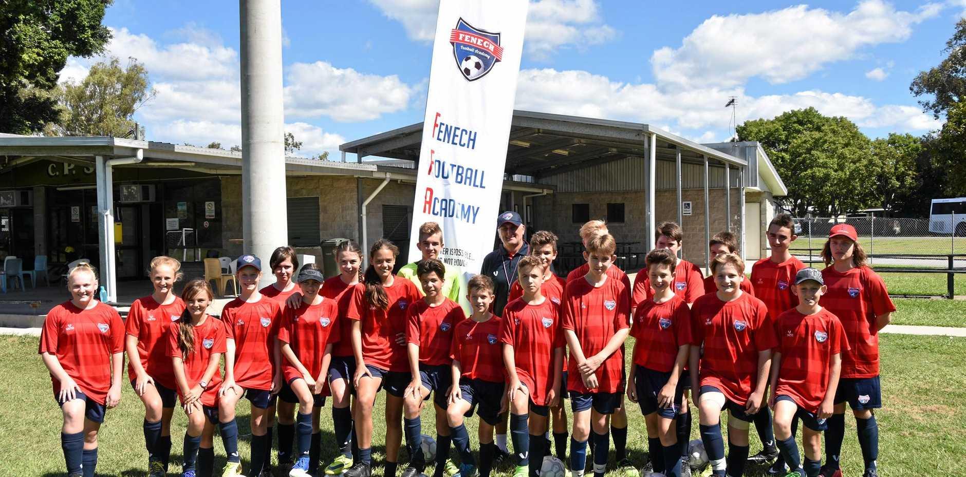 Day 2 of the Fenech Football Academy run by acclaimed soccer coach Joe Fenech.