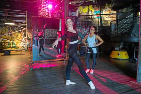 Xenia Goodwin and Dena Kaplan in a scene from the movie Dance Academy: The Movie.