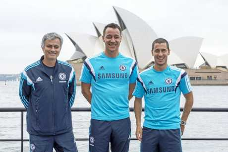 Terry as part of the visiting Chelsea FC squad in Sydney in 2015.