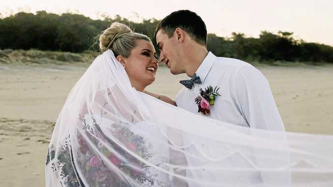 LUCKY IN LOVE: K'Cee and Ryan Axiak were married on September 10, the same day of their first kiss.