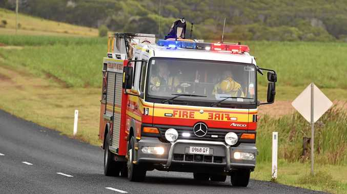 Fire services were called to a crash in Carmila