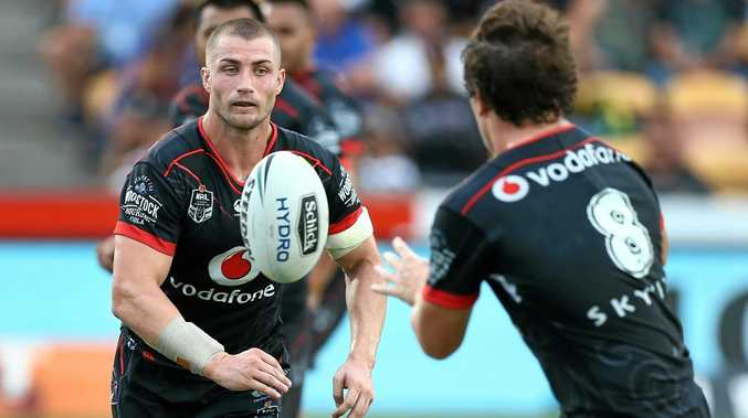 In demand ... Kieran Foran in action for the Warriors.