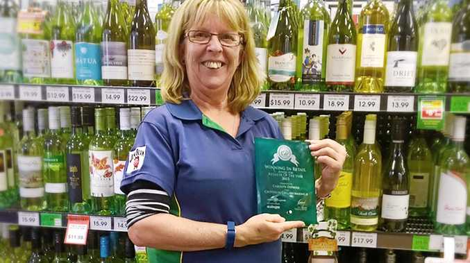 AWARD WINNING: Carolyn Diprose, manager of Warwick Liquor Legends stores, which are consistently in the top five best stores in the country.