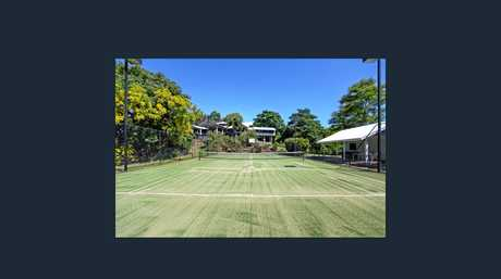 SOLD: The tennis court at 5/76 Lynette Dr, Nindaroo, which sold for $1.4m on April 11.