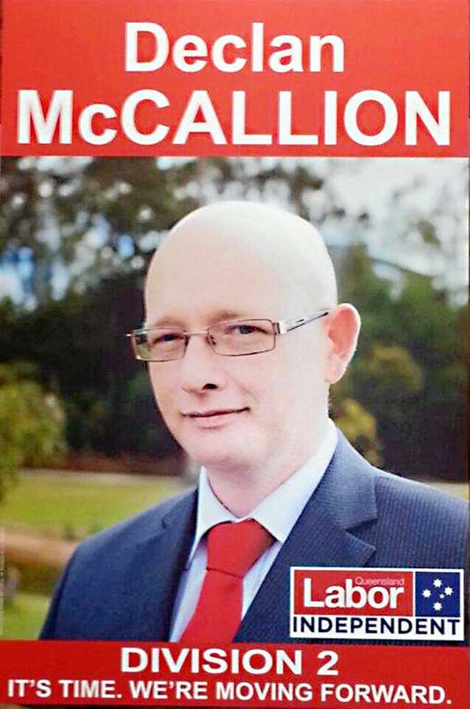NOT REQUIRED: Unsuccessful Division 2 candidate Declan McCallion, who ran as an independent at the 2016 Ipswich local government election, is no longer required to appear at the CCC public hearing.