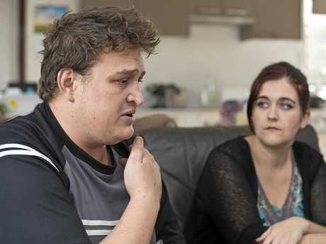CALLOUS: Barend van Wyk, with partner Ainsley Cooper, speaks out after a hit-and-run driver struck him.