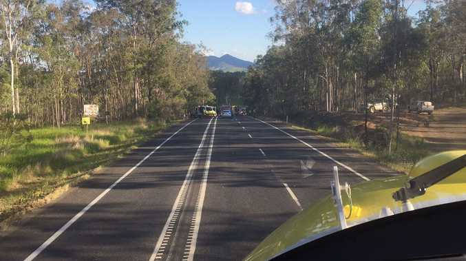 The Brisbane and Sunshine Coast-based RACQ LifeFlight Rescue helicopters have airlift a boy, man and a woman from a fatal crash on the Bruce Highway near Tiaro.