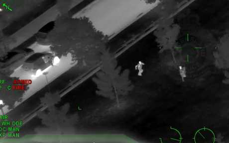 Police have released footage from the Polair chopper after three dramatic arrests occurred over Easter.