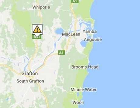A crash on the Summerland Way was reported by Live Traffic NSW at 1.03pm on Wednesday, 19th April, 2017.
