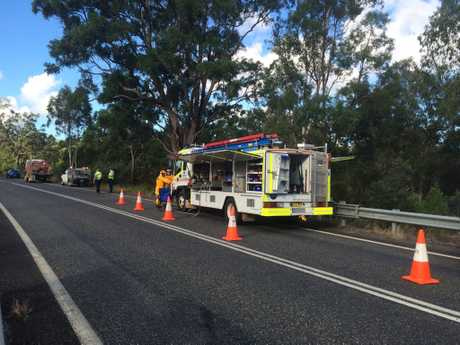 A woman died from injuries sustained in a single-vehicle crash on the Summerland Way about 25km north of Grafton on Wednesday, 19th of April, 2017.