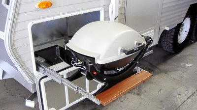 Lidded BBQ's are a great asset on the road.