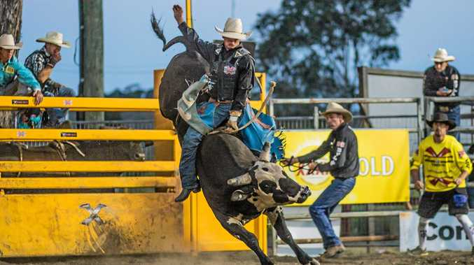 FAST AND FURIOUS: Jake Whalan is a star bull rider who will make an appearance at the Gargett Lions Rodeo.