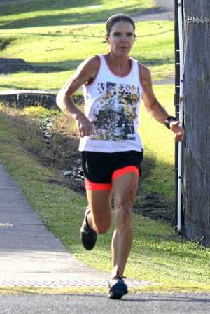 Clare Palmer had an outstanding Woolgoolga Fun Run weekend, clean sweeping all races to be the first lady across the line in the Forest Footrace, Seaside Scamper and Beach Bash.