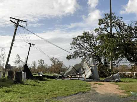 The Proserpine Showgrounds after Cyclone Debbie.