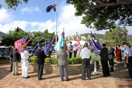 STANDING GUARD: The cenotaph will be the focus of Anzac Day activities in Airlie Beach on Tuesday.