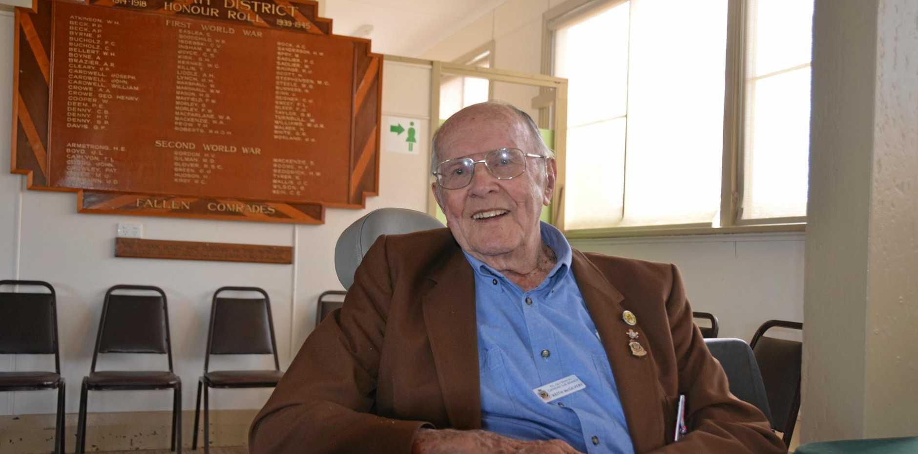 LONE SURVIVOR: Keith McGilvery is the last surviving Second World War veteran in Gayndah.