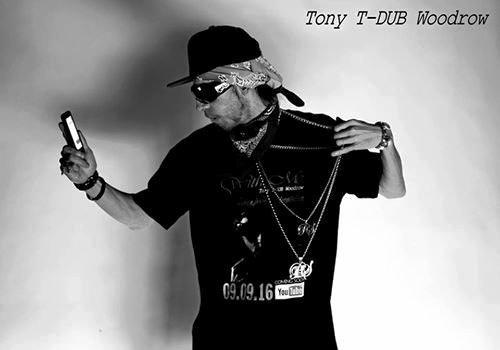 Gympie's infamous rapper T-Dub, aka Tony Woodrow.