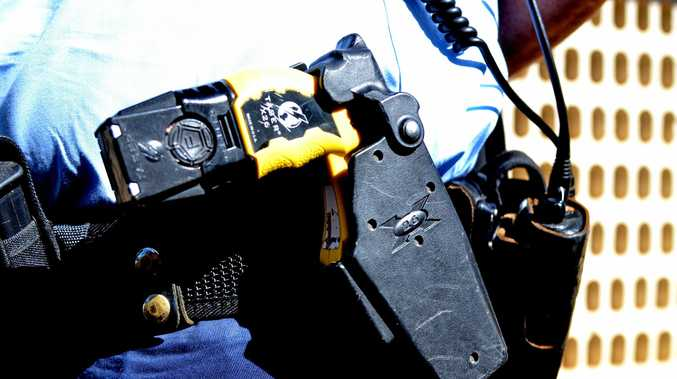 A man was tasered at a home in Slade Point.