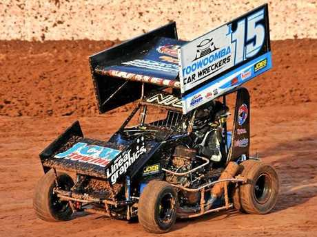 Toowoomba driver Nicholas Whell races in the Junior Formula 500 speedway class.