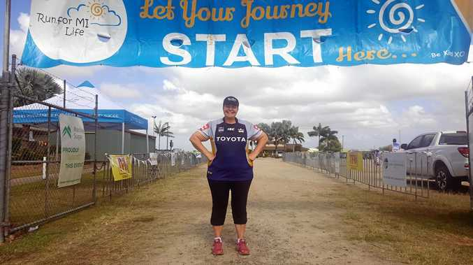 Run for Mi Life organiser Jo Shanks at the completion of last year's event, which attracted 1100 participants.