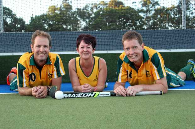 READY: Bundaberg's Nigel Rach, Angela Asnicar and Dean Wightman will compete for Australia against New Zealand next week.