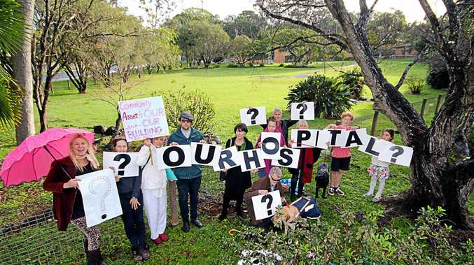 Locals are concerned about the future of the Mullumbimby Hospital site.