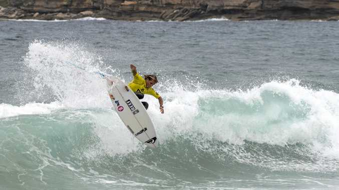 FLYING HIGH: Noah Stocca wins a heat in a Pro Junior event at Maroubra earlier this year.