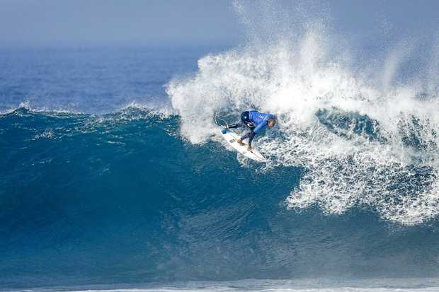 NICE WAVE: Owen Wright surfing at the Rip Curl Pro at Bells Beach, Victoria