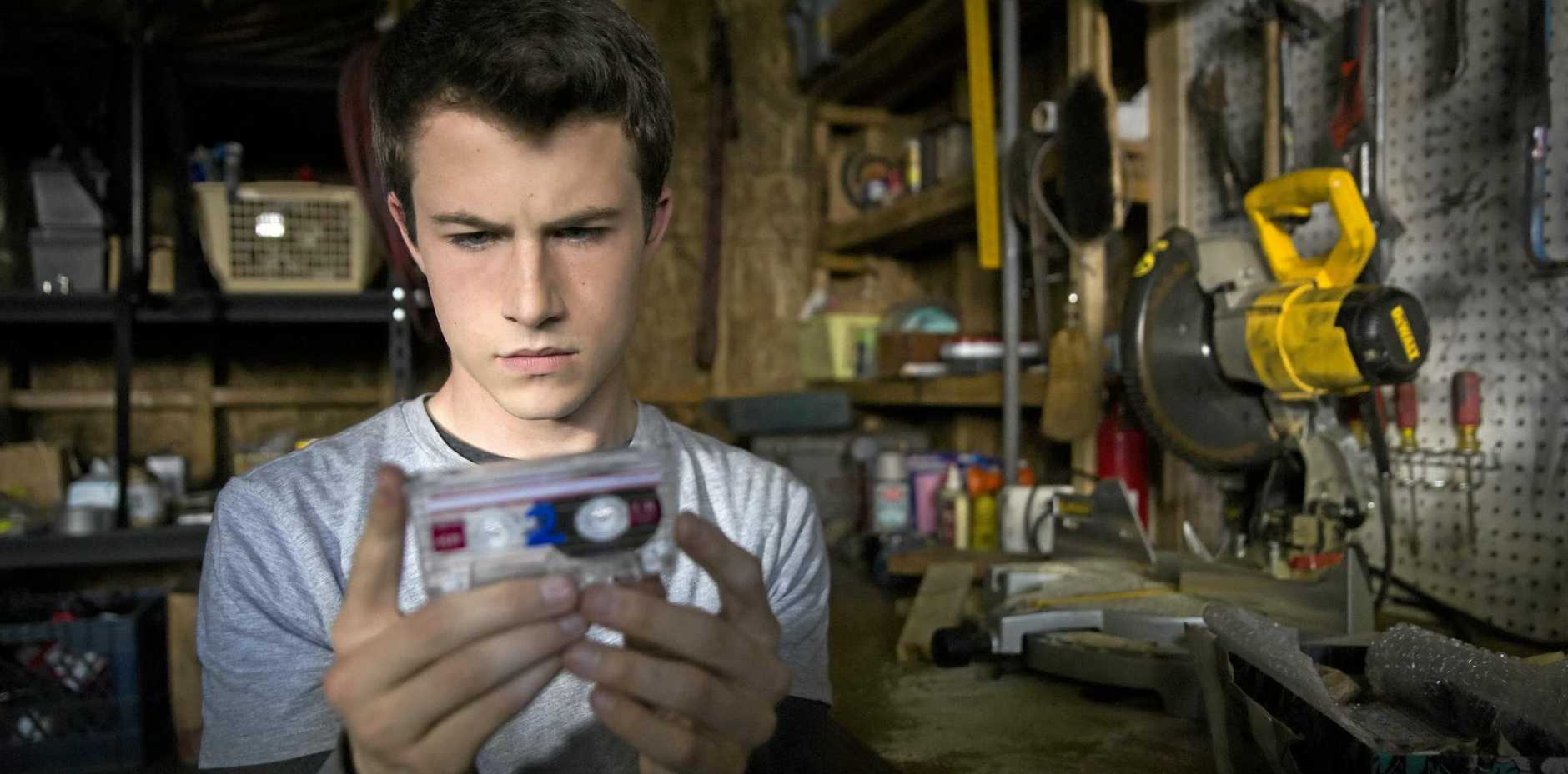 Dylan Minnette in a scene from the TV series 13 Reasons Why.