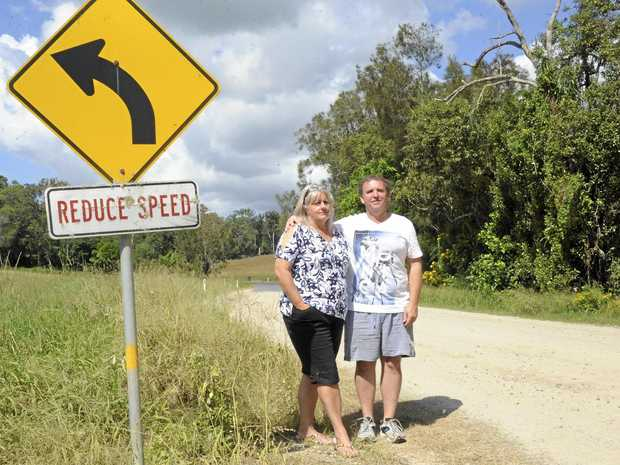 Annette and Peter Gardiner want James Creek Rd to be graded more than twice a year due to safety concerns.