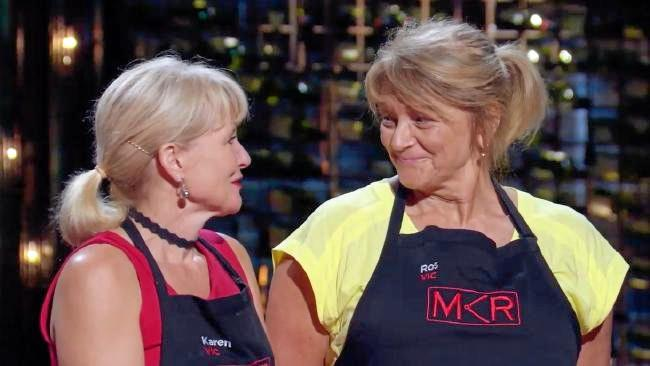 Karen and Ros said they were proud of their achievements despite being eliminated on MKR tonight, saying it was a 'amazing experience'.