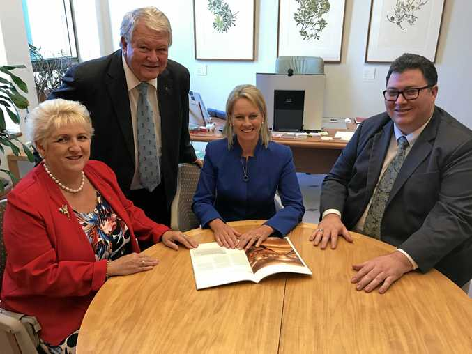 Capricornia MP Michelle Landry, Flynn MP Ken O'Dowd, Minister for Regional Development Fiona Nash and Dawson MP George Christensen.