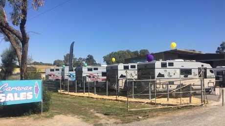 Caravan sales.