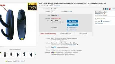 People can purchase the hidden cameras online. Source: eBay